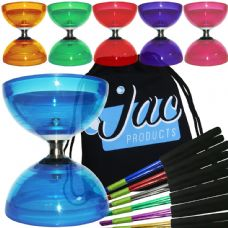 Juggle Dream Cyclone Quartz Triple Bearing Diabolo with Aluminium Hand Sticks & Bag Package